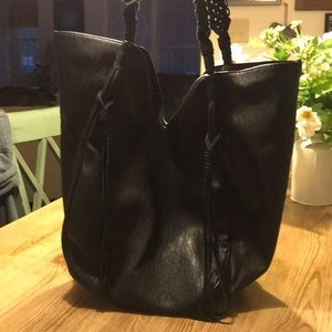 Large Oversized Tote Bag~Partial Leather NWOT Bag